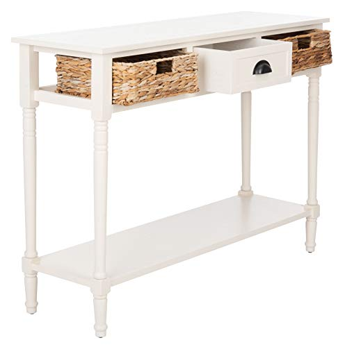 Safavieh Home Collection Christa Distressed White 3 Drawer Storage Console Table 0 3