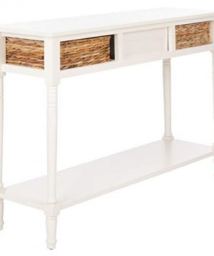 Safavieh Home Collection Christa Distressed White 3 Drawer Storage Console Table 0 4 300x360