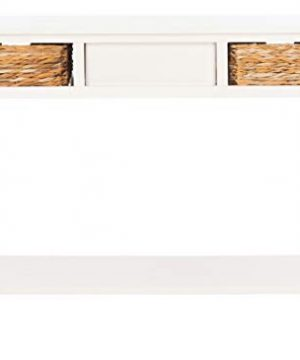 Safavieh Home Collection Christa Distressed White 3 Drawer Storage Console Table 0 5 300x360