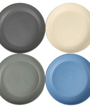 Shopwithgreen Lightweight Wheat Straw Plates 4 Pack 78 Unbreakable Dinner Plates Dishwasher Microwave Safe BPA Free For KidsChildrenToddler Adult 0 1 300x360