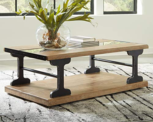 Signature Design By Ashley Calkosa Cocktail Table With Shelf Brown 0 0