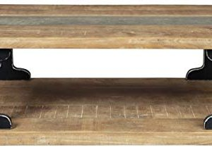 Signature Design By Ashley Calkosa Cocktail Table With Shelf Brown 0 1 300x213