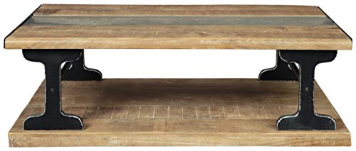 Signature Design By Ashley Calkosa Cocktail Table With Shelf Brown 0 1