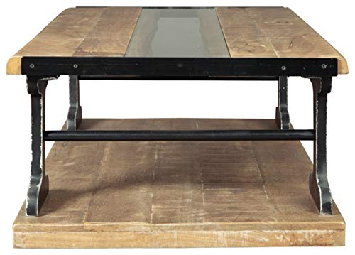 Signature Design By Ashley Calkosa Cocktail Table With Shelf Brown 0 2