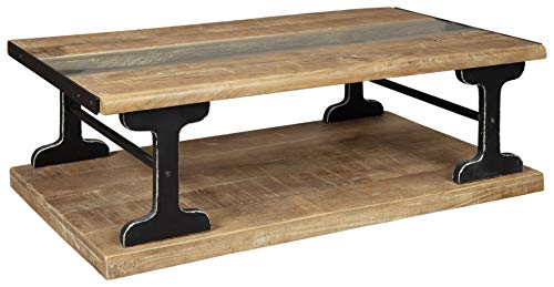 Signature Design By Ashley Calkosa Cocktail Table With Shelf Brown 0