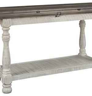 Signature Design By Ashley Havalance Flip Top Sofa Table WhitewashBrown Wood 0 300x313