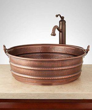 Signature Hardware 937961 17 Copper Vessel Bathroom Sink 0 300x360
