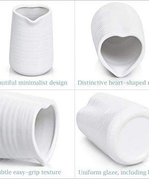 Small Vase 43 Inch With Heart Shape Opening Ceramic Vase Decor For Shelves Petite Decorative Flower Vase Makeup Brush Organizer Creamer Pitcher Or Pen Holder 0 0 300x360