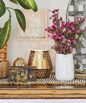 Small Vase 43 Inch With Heart Shape Opening Ceramic Vase Decor For Shelves Petite Decorative Flower Vase Makeup Brush Organizer Creamer Pitcher Or Pen Holder 0 1 300x360