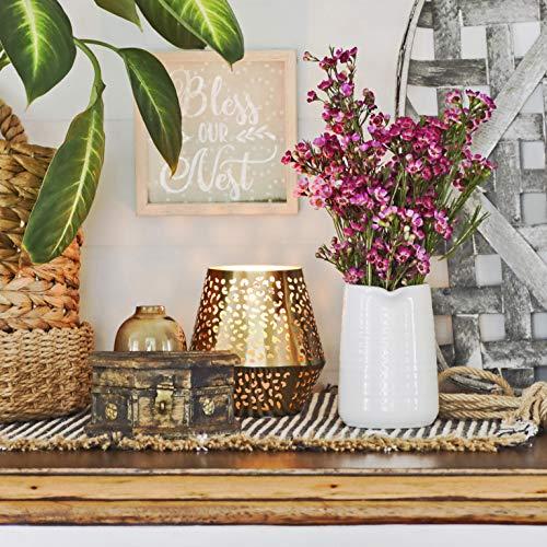 Small Vase 43 Inch With Heart Shape Opening Ceramic Vase Decor For Shelves Petite Decorative Flower Vase Makeup Brush Organizer Creamer Pitcher Or Pen Holder 0 1