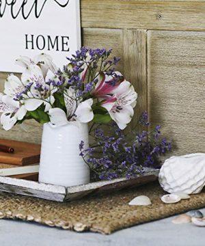 Small Vase 43 Inch With Heart Shape Opening Ceramic Vase Decor For Shelves Petite Decorative Flower Vase Makeup Brush Organizer Creamer Pitcher Or Pen Holder 0 2 300x360