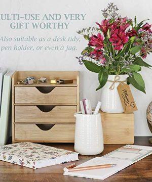 Small Vase 43 Inch With Heart Shape Opening Ceramic Vase Decor For Shelves Petite Decorative Flower Vase Makeup Brush Organizer Creamer Pitcher Or Pen Holder 0 3 300x360