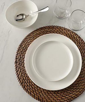 Sweese 154001 Porcelain Round Dinner Plates 10 Inch Set Of 6 White 0 2 300x360