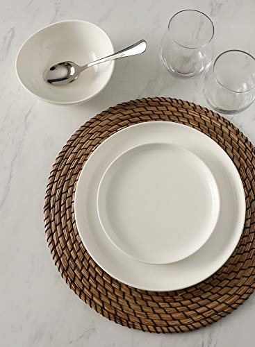 Sweese 154001 Porcelain Round Dinner Plates 10 Inch Set Of 6 White 0 2