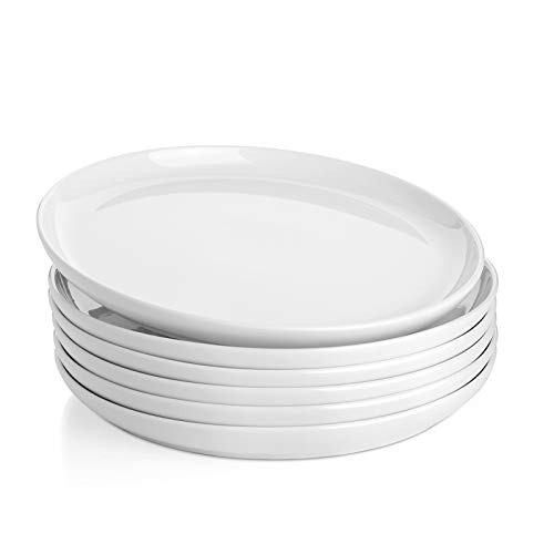Sweese 154001 Porcelain Round Dinner Plates 10 Inch Set Of 6 White 0