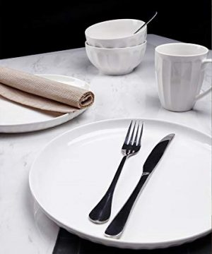 Sweese 156001 Porcelain Fluted Dinner Plates 10 Inch Set Of 6 White 0 2 300x360