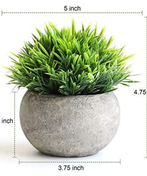 THE BLOOM TIMES 2 Pcs Fake Plants For BathroomHome Office Decor Small Artificial Faux Greenery For House Decorations Potted Plants 0 0 300x360