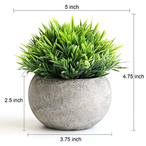 THE BLOOM TIMES 2 Pcs Fake Plants For BathroomHome Office Decor Small Artificial Faux Greenery For House Decorations Potted Plants 0 0
