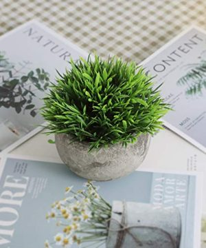 THE BLOOM TIMES 2 Pcs Fake Plants For BathroomHome Office Decor Small Artificial Faux Greenery For House Decorations Potted Plants 0 4 300x360