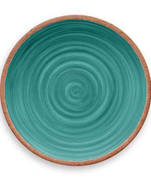 TarHong Rustic Swirl Dinner Plate Turquoise 105 Melamine Set Of 6 0 1 300x360