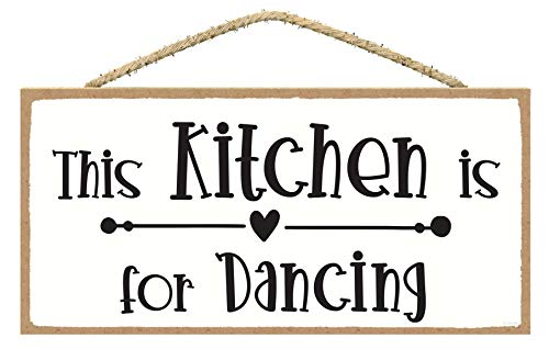 This Kitchen Is For Dancing Sign In This Kitchen We Dance Sign Cute Kitchen Decor Farmhouse Kitchen Sign Wall Plaques With Sayings 0