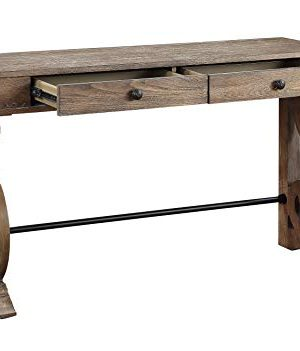 Treasure Trove Accents Sherwood Two Drawer Console Table Medium Brown 0 300x351