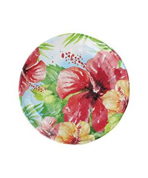UPware 4 Piece Hibiscus Heavyweight And Durable Melamine 6 Inch Serving PlatesAppetizer PlatesDessert Plates 0 0 300x360