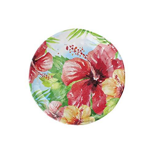 UPware 4 Piece Hibiscus Heavyweight And Durable Melamine 6 Inch Serving PlatesAppetizer PlatesDessert Plates 0 0