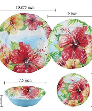 UPware 4 Piece Hibiscus Heavyweight And Durable Melamine 6 Inch Serving PlatesAppetizer PlatesDessert Plates 0 1 300x360