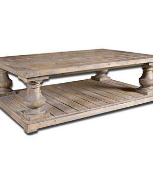 Uttermost Stratford Rustic Cocktail Table Stony Gray Wash 0 300x360