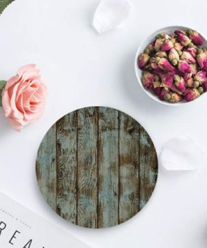 Vandarllin Drink Coasters Rustic Old Barn Wood Art Absorbent Stone Ceramic Coaster With Cork Back And NO Holder For Cups Set Of 4 Piece 0 3 300x360
