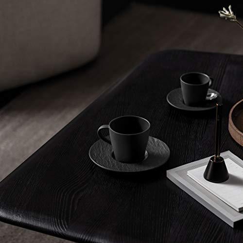 Villeroy Boch Manufacture Rock Coffee Saucer Rustic Premium Porcelain Fresh Black Dishwasher Safe 0 0