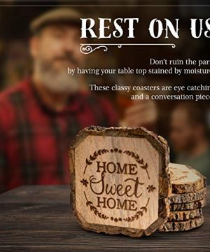 Wooden Rustic Farmhouse Coasters Set Of Wood Coasters Home Sweet Home 6 Pack 0 0 300x360