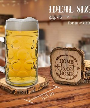 Wooden Rustic Farmhouse Coasters Set Of Wood Coasters Home Sweet Home 6 Pack 0 1 300x360