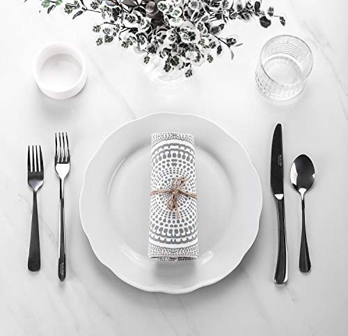 Y YHY Christmas Dinner Plates Set 106 Porcelain Dinner Plate Set Of 6 White Serving Plates For Restaurant Kitchen And Family Party Use Reusable Dishwasher Microwave Safe 0 0