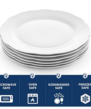 Y YHY Christmas Dinner Plates Set 106 Porcelain Dinner Plate Set Of 6 White Serving Plates For Restaurant Kitchen And Family Party Use Reusable Dishwasher Microwave Safe 0 4 300x360