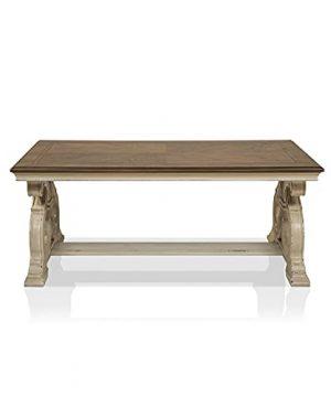 IoHOMES Burick Transitional Rectangle Coffee Table Dark Oak White Wash 0 300x360