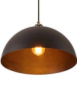 137Farmhouse Dome Pendant Light Retro Hanging Light Fixture With Black Painted Finish Vintage Metal Ceiling Lamp Fixture For Kitchen Island Living Room Bedroom Living Room 0 300x360