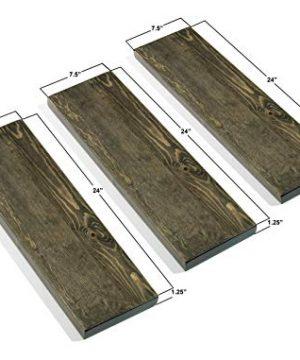 3 Tier Wood Shelves With Black Pipe Brackets Walnut 3 Tier 0 3 300x360