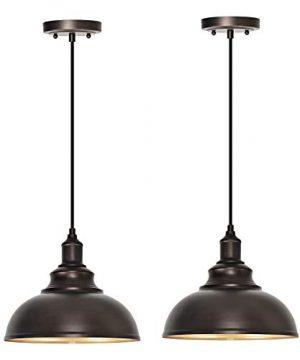 ALAISLYC 2 Pack Farmhouse Pendant Light Fixture Lighting For Kitchen Island Sink HangingOil Rubbed Bronze 0 300x360