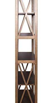 Amazon Brand Stone Beam 5 Shelf Bookcase 75H Weathered Oak Finish 0 1 187x360