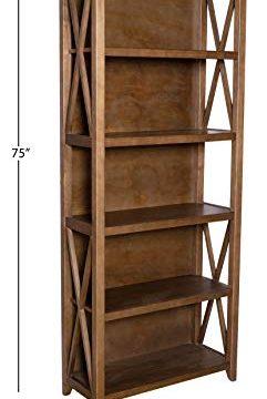 Amazon Brand Stone Beam 5 Shelf Bookcase 75H Weathered Oak Finish 0 4 241x360