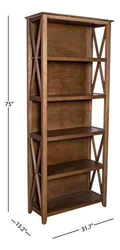 Amazon Brand Stone Beam 5 Shelf Bookcase 75H Weathered Oak Finish 0 4