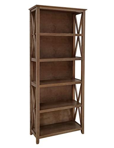 Amazon Brand Stone Beam 5 Shelf Bookcase 75H Weathered Oak Finish 0