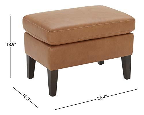 Amazon Brand Stone Beam Wingard Leather Ottoman 264W Cognac 0 2