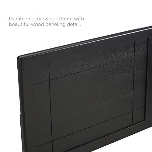 Archie King Wood Headboard In Black 0 3