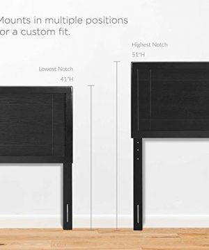 Archie King Wood Headboard In Black 0 4 300x360