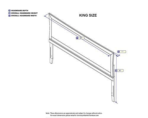 Atlantic Furniture Metro Headboard King Espresso 0 1