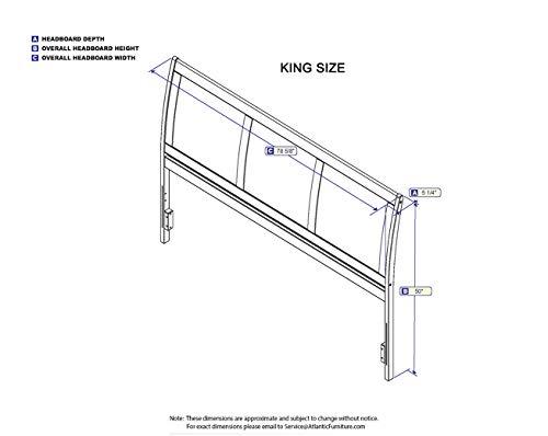 Atlantic Furniture Portland Headboard King Walnut 0 1