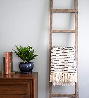 BarnwoodUSA Rustic Farmhouse Decorative Ladder Our 4 Ft Ladder Can Be Mounted Horizontally Or Vertically And Is Crafted From 100 Recycled And Reclaimed Wood No Assembly Required White Wash 0 0 300x333
